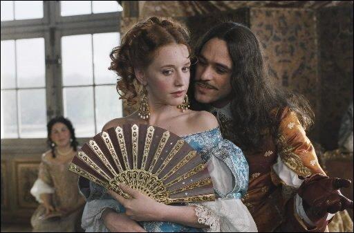 Ludivine Sagnier (Célimène) inspirera à Romain Duris (Molière)...