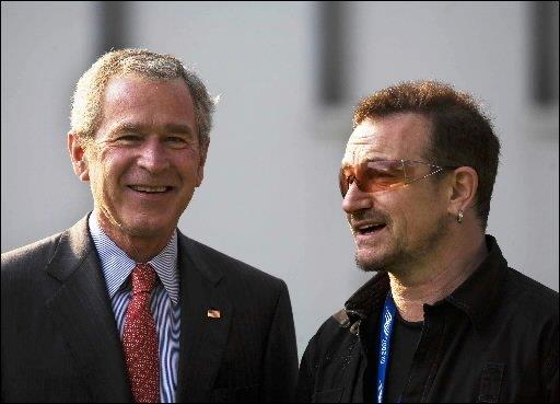 Bono a rencontré George W. Bush dans le...