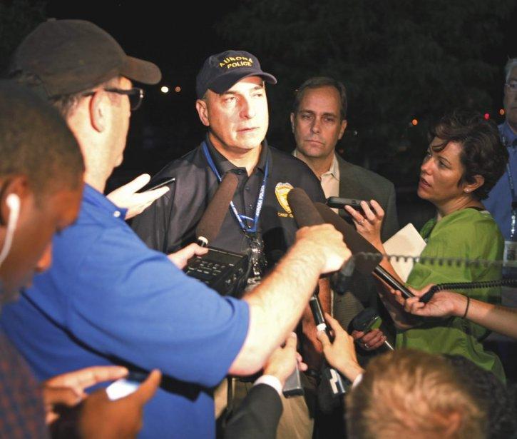 Le chef de police d'Aurora Daniel Oates. | 20 juillet 2012