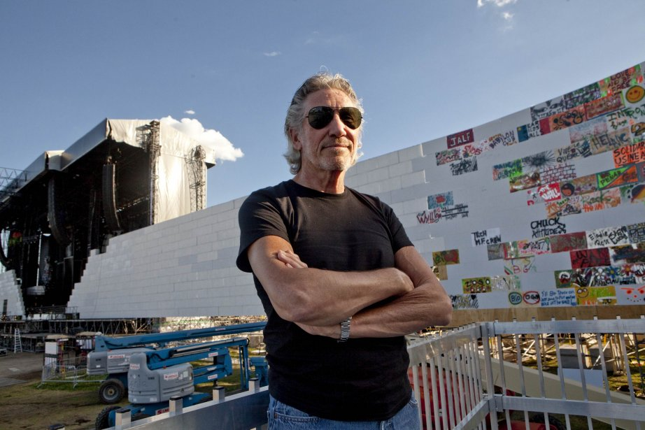 Roger Waters, devant son mur, la veille du spectacle | 22 juillet 2012