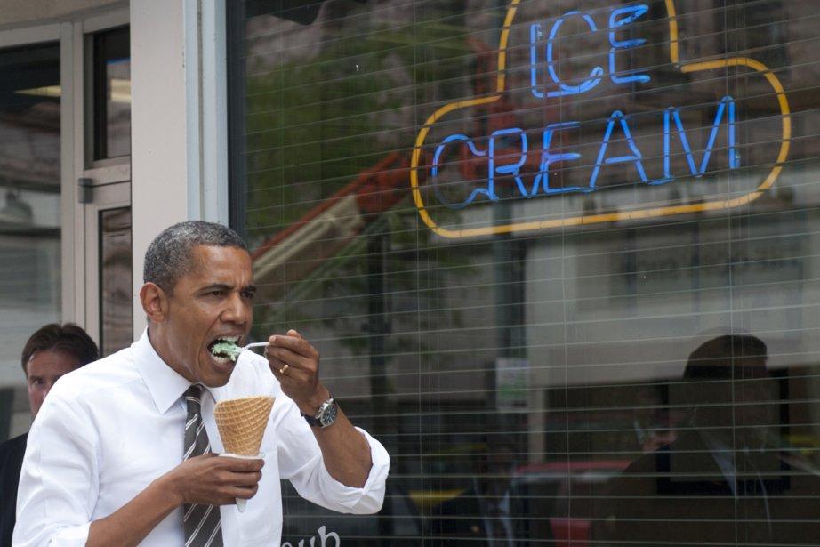 Le président Obama ne mange pas que la... (Photo Saul Loeb, AFP)