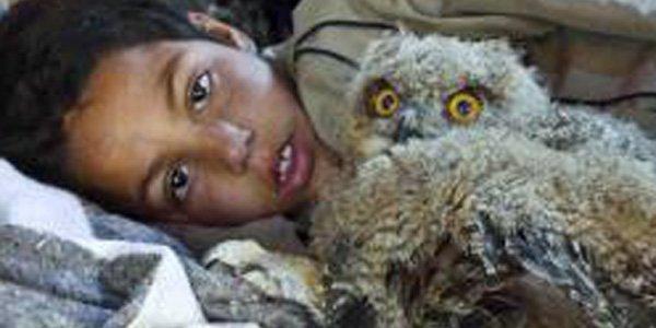 Mokhtar raconte l'histoire d'un enfant d'une chèvrerie vivant... (Fournie par EyeSteelFilm)