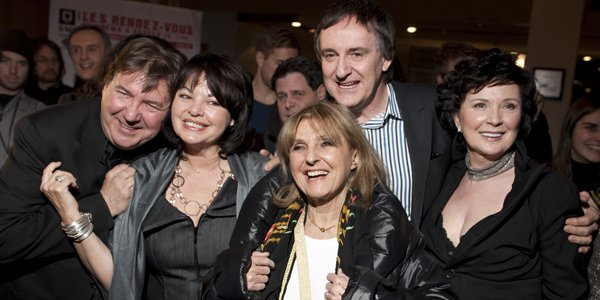 Les comédiens Rémy Girard, Louise Portal, Dominique Michel,... (André Pichette, La Presse)