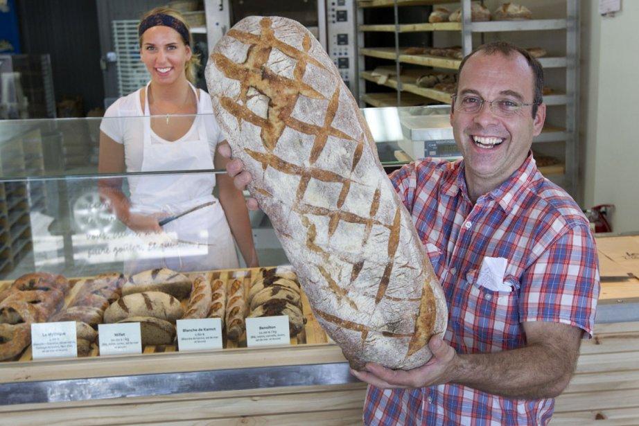 Daniel Jobin, propriétaire de la boulangerie Joe La... (Photo Robert Skinner, La Presse)