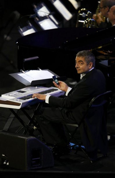 L'acteur Rowan Atkinson connu pour son rôle de Mr. Bean. | 27 juillet 2012