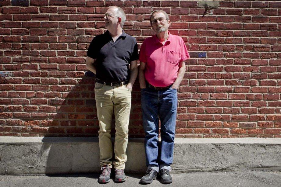 Michael Henricks et René Leboeuf.... (Photo Marco Campanozzi, La Presse)