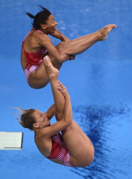 Plongeon 3M synchronisé femmes: Émilie Heymans et Jennifer Abel ravissent... | 2012-07-29 00:00:00.000