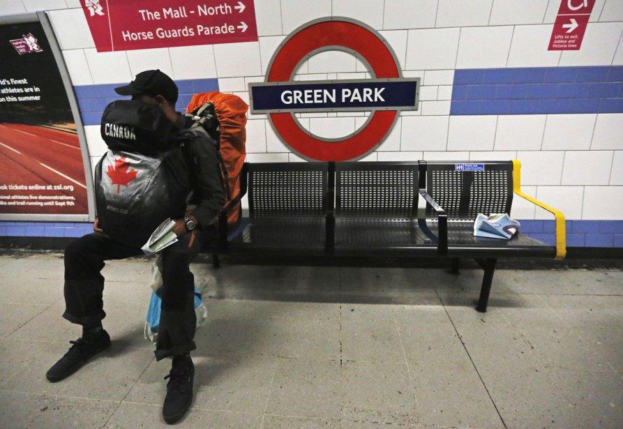 La matinée a été particulièrement calme dans le métro londonien lundi. | 30 juillet 2012