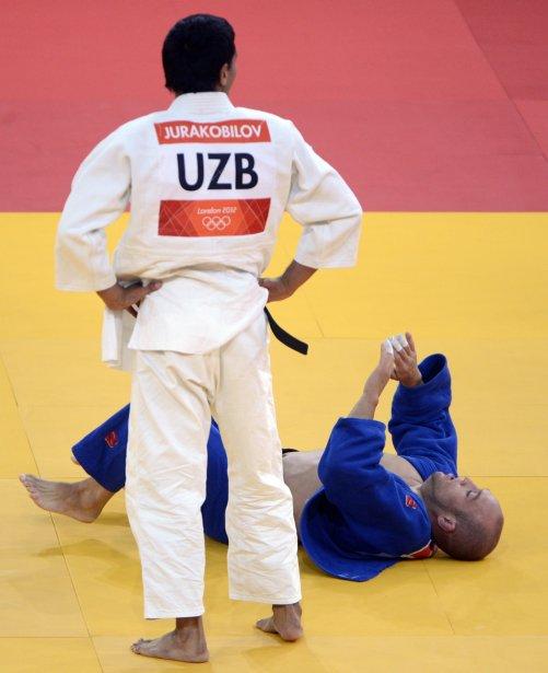Nicholas Tritton (-73 kg) a perdu par un tout petit point après avoir accumulé  deux pénalités contre l'Ouzbek Navruz  Jurakobilov. | 30 juillet 2012