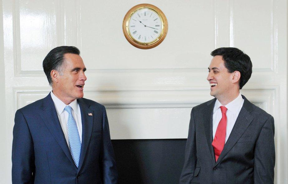 Mitt Romney a rencontré le chef du Parti travailliste Ed Miliband. | 30 juillet 2012