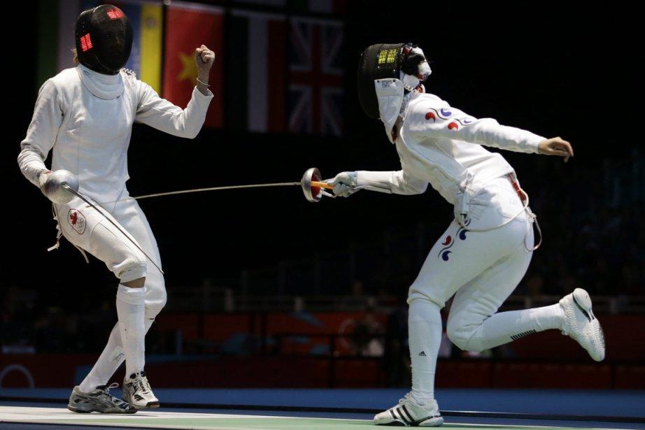 L'Albertaine Sherraine Schalm s'est inclinée 15-12 devant la  Sud-Coréenne Shin A Lam. | 30 juillet 2012
