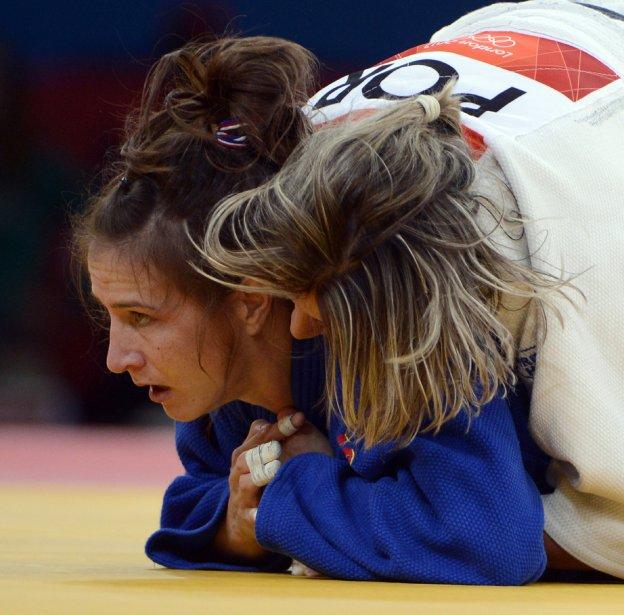 Marti Malloy des États-Unis a gagné son combat contre Telma Monteiro du Portugal. | 30 juillet 2012
