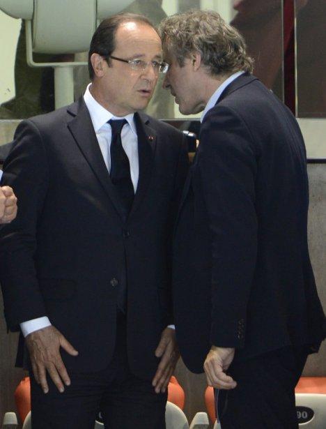 Le président de la France, François Hollande, est venu encourager ses athlètes au Centre aquatique de Londres. | 30 juillet 2012