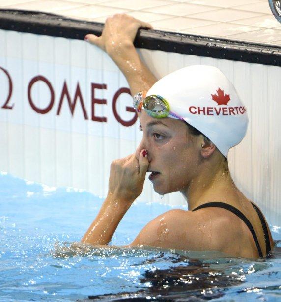 La Montréalaise Samantha Cheverton n'a pas réussi à se qualifier pour la finale du 200 m style libre. | 30 juillet 2012