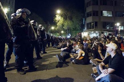 La manifestation nocturne du 23 mai s'est soldée... (Photo: Olivier Pontbriand, archives La Presse)
