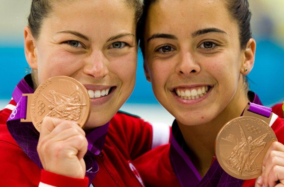 Les plongeuses Roseline Filion et Meaghan Benfeito ont remporté la... | 2012-07-31 00:00:00.000