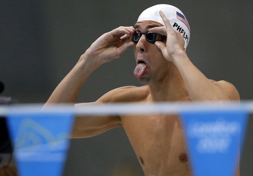 Michael Phelps avait l'air détendu avant sa course du 200 mètres 4 nages. | 1 août 2012