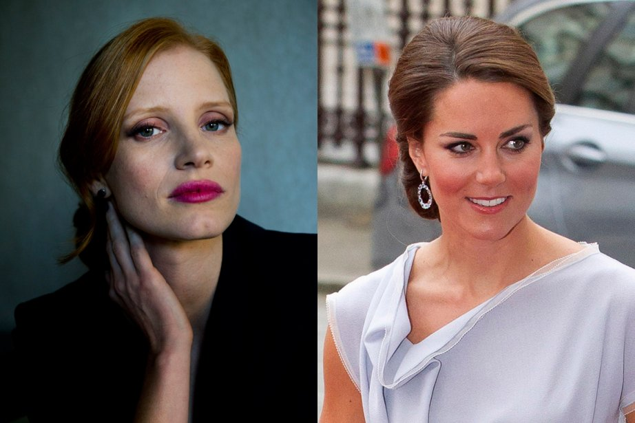 Jessica Chastain et Catherine Middleton... (Photos Nathan Denette, PC et Neil Hall, Reuters)