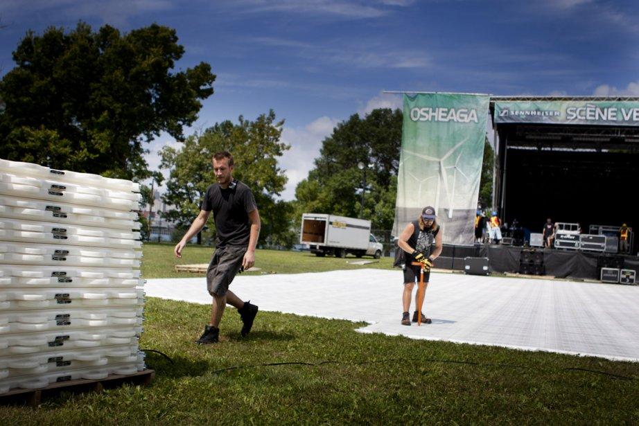 Le site 2012 du festival Osheaga....