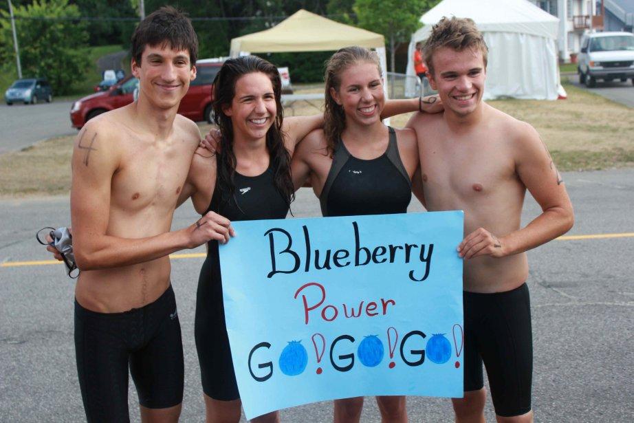 Les quatre nageurs de la délégation du Saguenay... (Courtoisie)