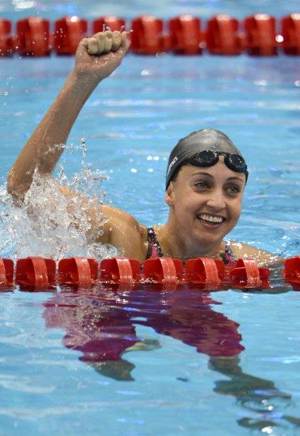L'Américaine Rebecca Soni a battu son propre record du monde pour remporter l'or au 200 mètres brasse. | 2 août 2012