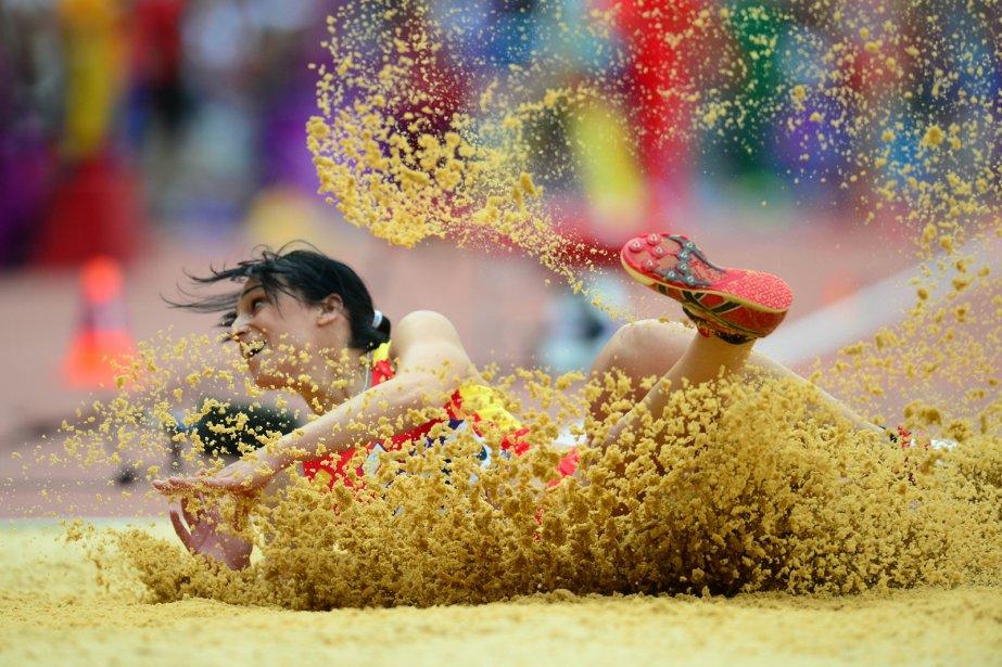 L'Espagnole Patricia Sarrapio participe aux qualifications du triple saut. | 3 août 2012