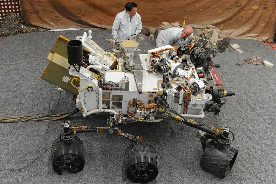 Le robot américain Curiosity.... (Photo AFP)