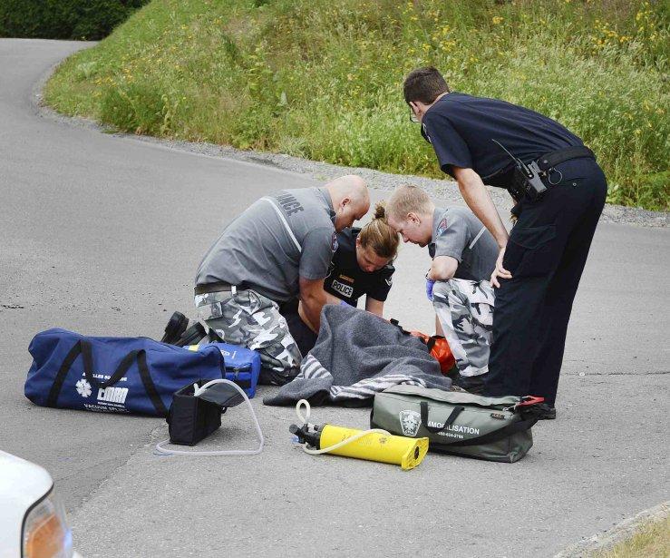 Un cycliste de 10 ans a subi d'importantes blessures à la... (Jeannot Lévesque)