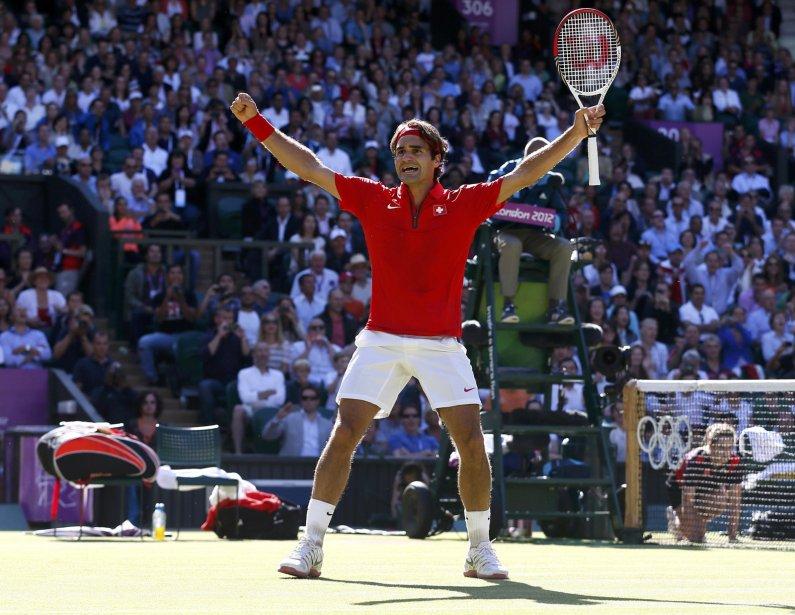 Le Suisse Roger Federer a remporté un match marathon contre l'Argentin Juan Martin del Potro. | 3 août 2012