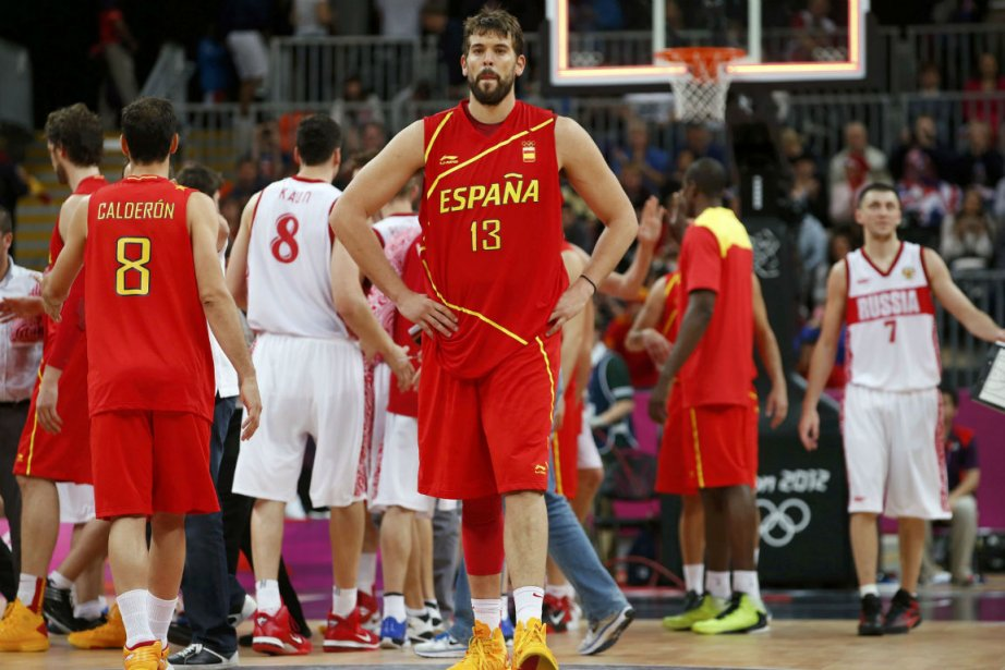L'Espagnol Marc Gasol, au centre.... (Photo Mike Segar, Reuters)