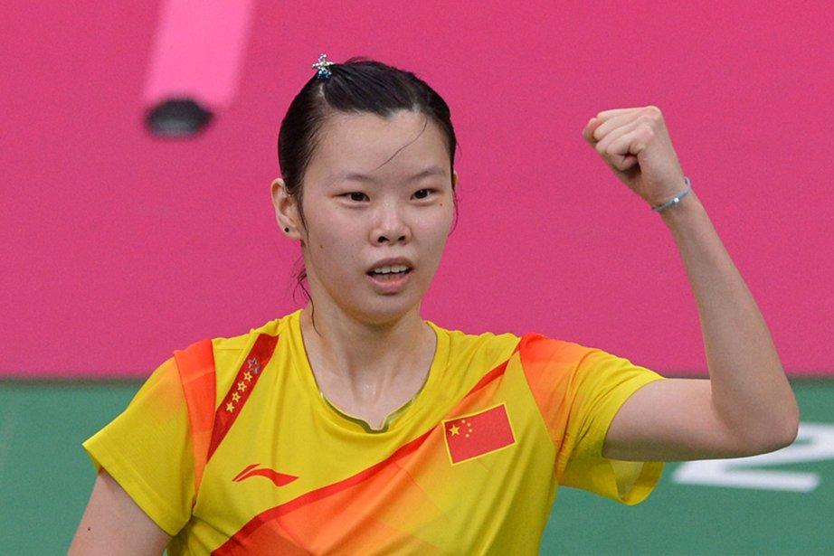 Li Xuerui s'est imposée 2 à 1 (21-15,... (Photo : Adek Berry, AFP)