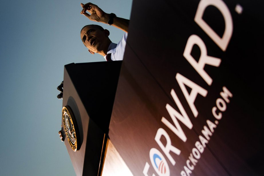 Le président américain Barack Obama lors d'un discours... (Photo: AFP)