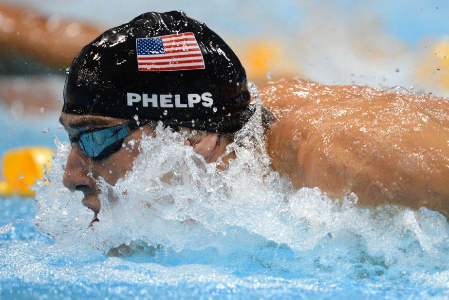 Michael Phelps termine sa carrière avec une 22e... (Photo : Christophe Simon, AFP)