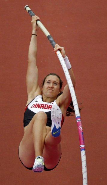 La Québécoise Mélanie Blouin n'a pas réussi à se qualifier pour la finale du saut à la perche. | 4 août 2012