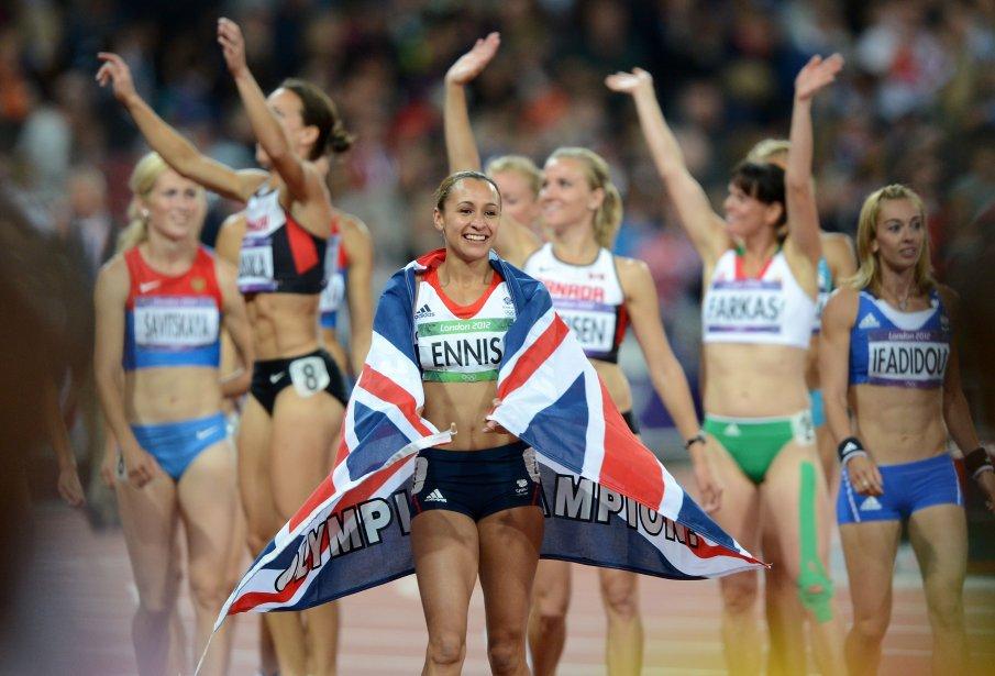 La Britannique Jessica Ennis a dominé l'heptathlon. | 4 août 2012