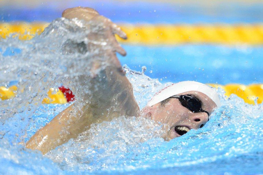 Le nageur canadien Ryan Cochrane a mérité l'argent au 1500 m nage libre. | 4 août 2012