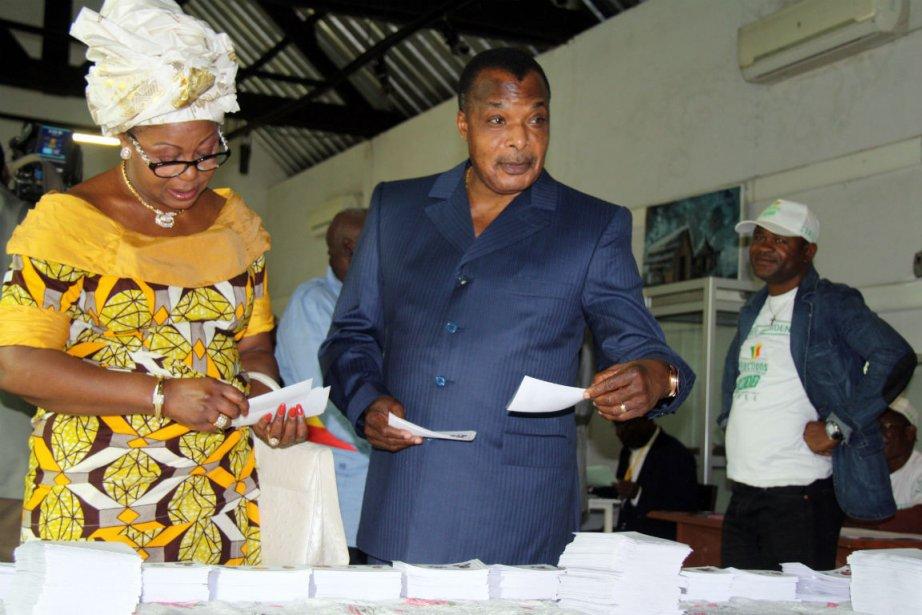 Denis Sassou Nguesso, président du Congo, dans un... (Photo Guy-Gervais Kitina, Agence France-Presse)