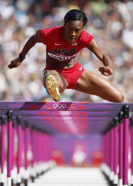 L'Américaine Kellie Wells participe au 100 m haies. | 6 août 2012