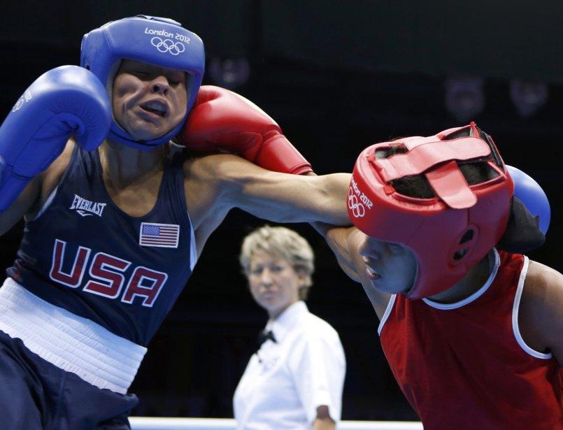 L'Américaine Marlen Esparza a affronté la Vénézuélienne Karlha Magliocco dans la catégorie des 51 kg. | 6 août 2012
