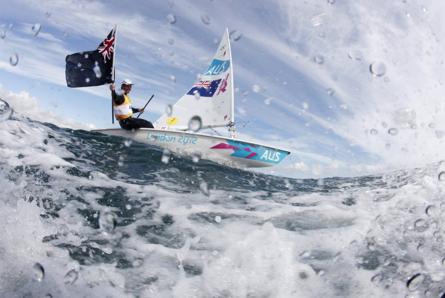 L'Australien Tom Slingsby a gagné l'or au laser en voile. | 6 août 2012