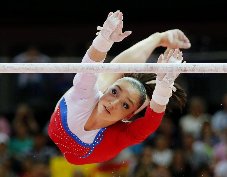 La Russe Aliya Mustafina a été couronné championne aux barres asymétriques en gymnastique. | 6 août 2012