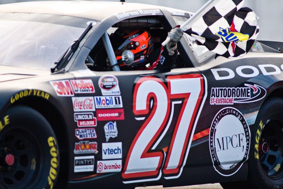 Andrew Ranger a conquis la première place en série NASCAR... | 2012-08-06 00:00:00.000