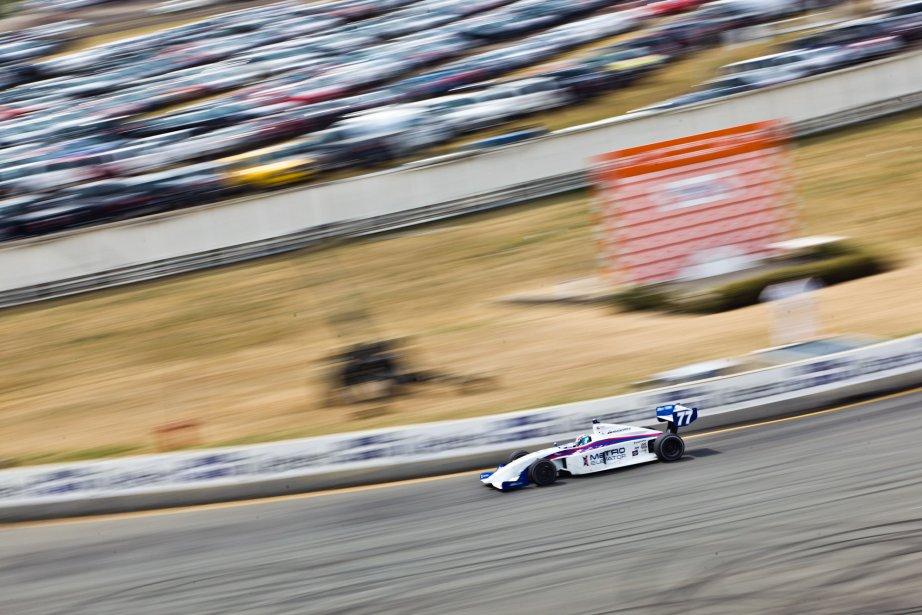 Tristan Vautier en série Indy Light. | 6 août 2012