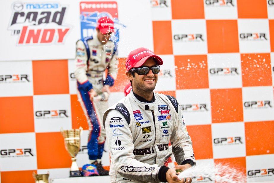Gustavo Yacaman, deuxième place en Indy Light. | 6 août 2012