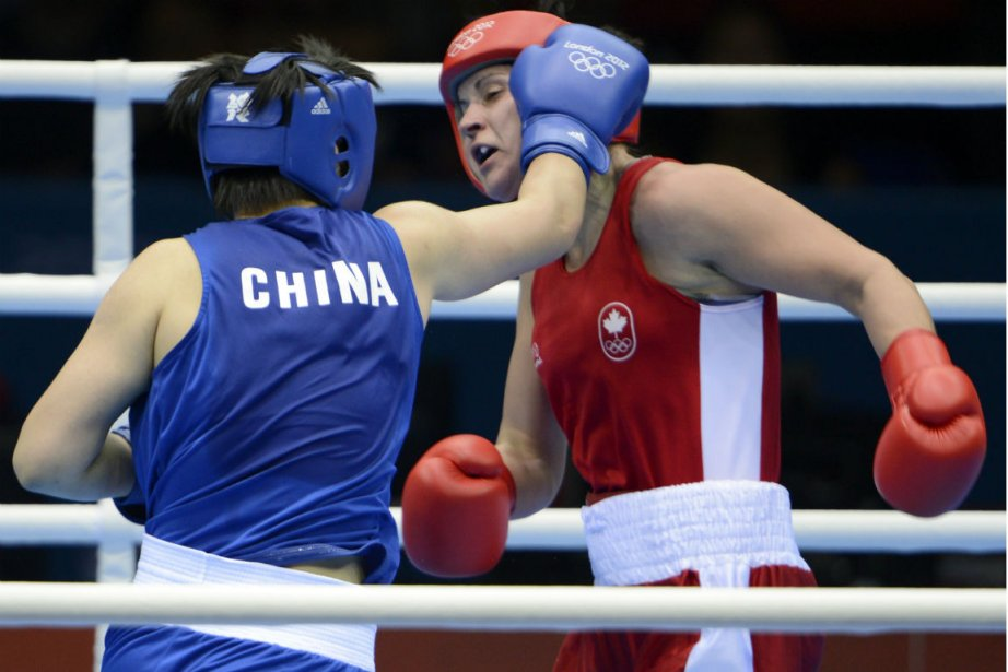 La Canadienne Mary  Spencer (à droite) s'est... (Photo: Bernard Brault, La Presse)