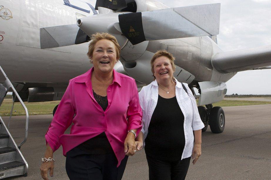 Pauline Marois, à son arrivée aux Îles-de-la-Madeleine.... (Photo: PC)