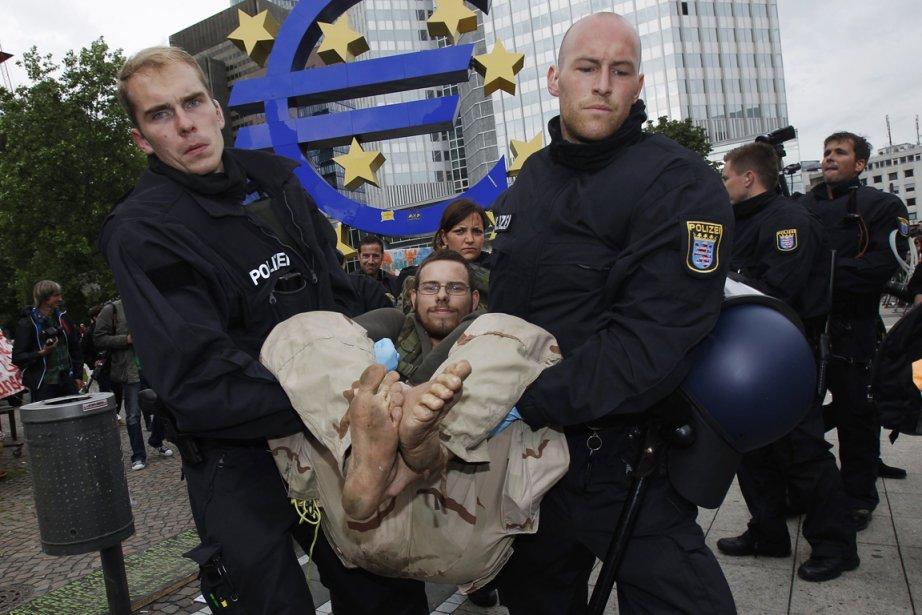Le camp du collectif anticapitaliste «Occupy... (PHOTO ALEX DOMANSKI, REUTERS)