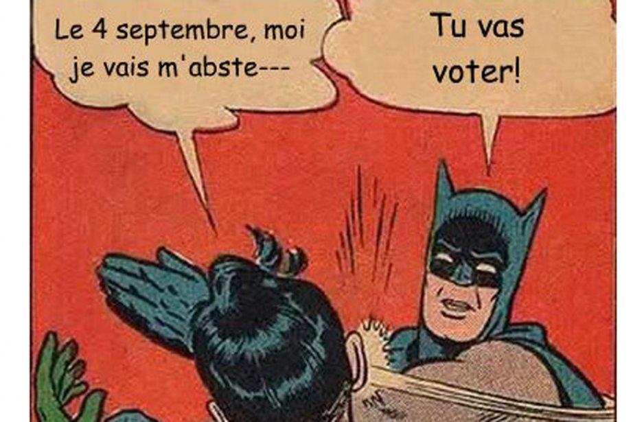 «Le 4 septembre, moi je vais m'abste-- - Tu vas voter!» - Batman et Robin