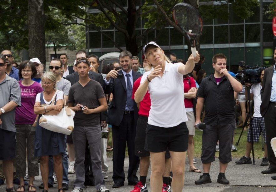 La légende du tennis Martina Navratilova. | 6 août 2012
