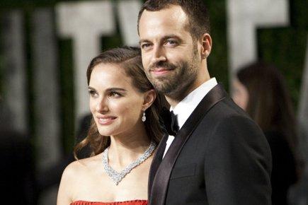Natalie Portman et Benjamin Millepied en février dernier.... (Photo: AFP)